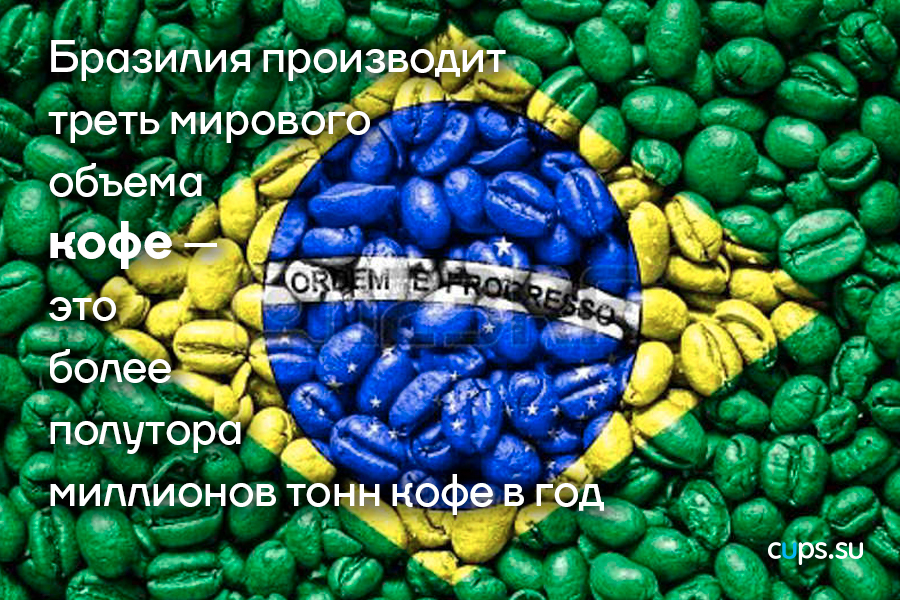 Бразилия производит треть мирового объема кофе